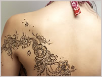 henna back floral art design